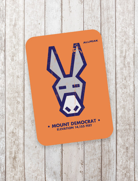 Mount Democrat Sticker - All Peak