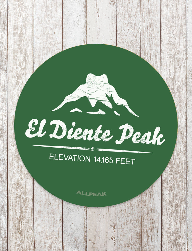 El Diente Peak Sticker - All Peak