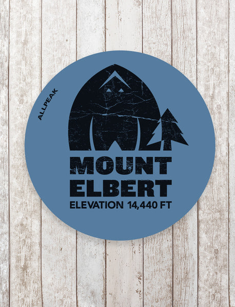 Mount Elbert Sticker - All Peak
