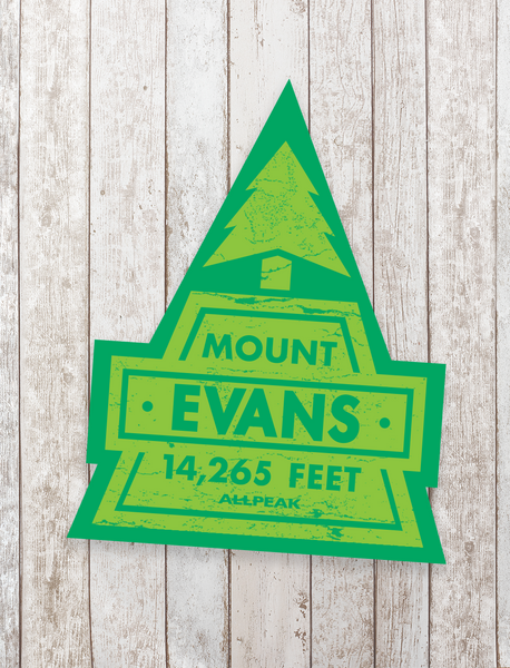 Mount Evans Sticker - All Peak