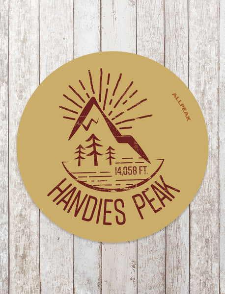 Handies Peak Sticker - All Peak