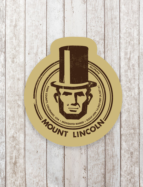 Mount Lincoln Sticker - All Peak