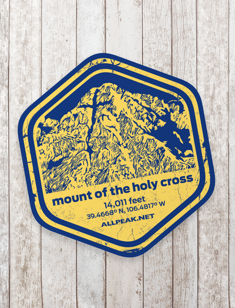Holy Cross Sticker - All Peak