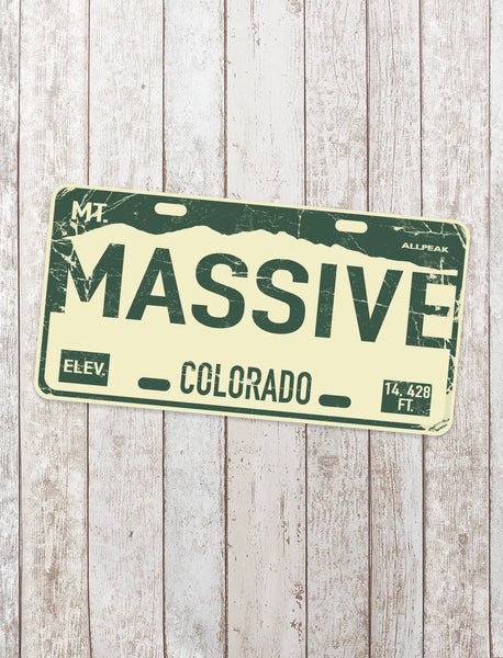 Mount Massive Sticker