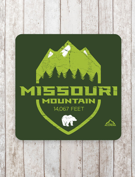 Missouri Mountain Sticker - All Peak