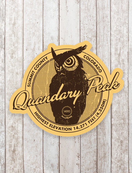 Quandary Peak Sticker