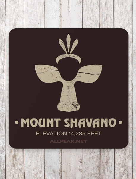 Mount Shavano Sticker - All Peak