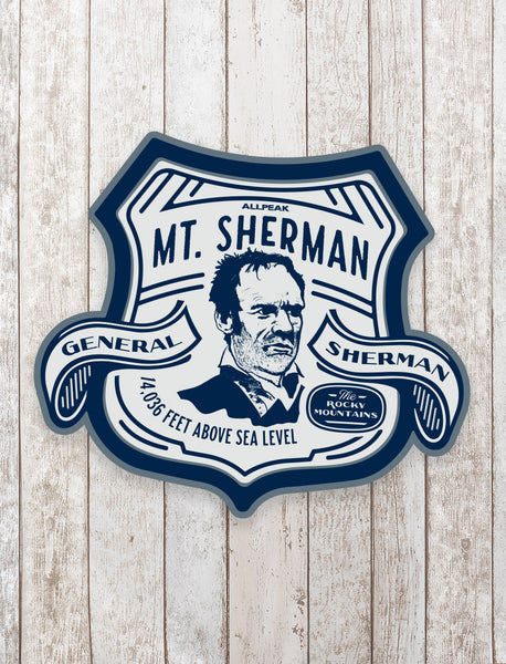 Mount Sherman Sticker - All Peak