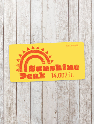 Sunshine Peak Sticker - All Peak
