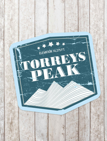Torreys Peak Sticker - All Peak