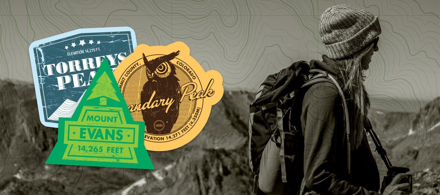 Colorado 14er Stickers