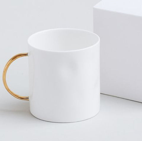 Feldspar Tea mug with 22ct gold handle
