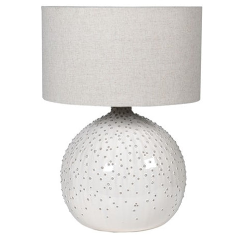 White Ceramic Raised Dot Lamp