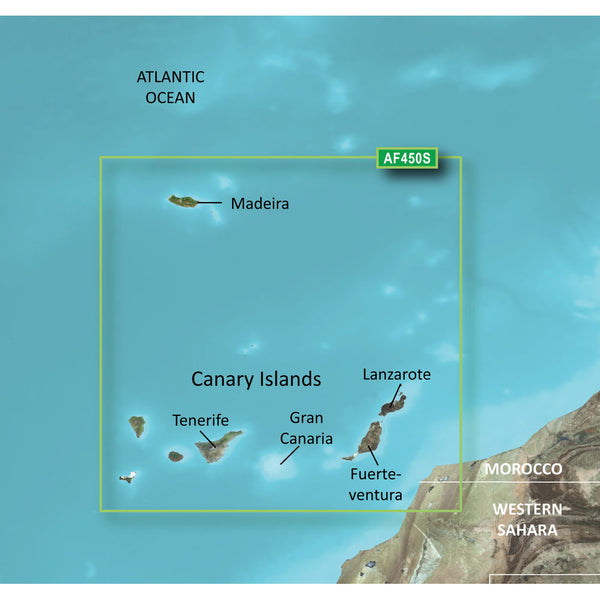 Garmin BlueChart g2 Vision HD - VAF450S - Madeira & Canary Islands - microSD/SD [010-C0750-00]