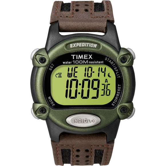 Timex Expedition Mens Chrono Alarm Timer - Green-Black-Brown [T48042]
