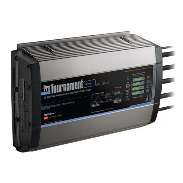 ProMariner ProTournament 360elite Quad Charger - 36 Amp, 4 Bank [52038]