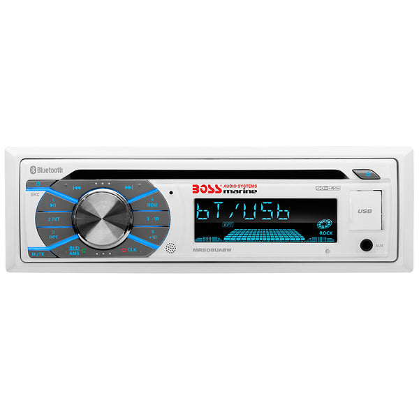 Boss Audio MR508UABW Single-DIN CD/USB/SD/MP3/WMA/AM/FM Receiver w/Bluetooth [MR508UABW]