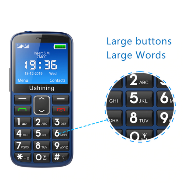 3G Big Button Mobile Phone for Elderly | LOUD SOUNDS| With SOS Emergency Button | English keyboard