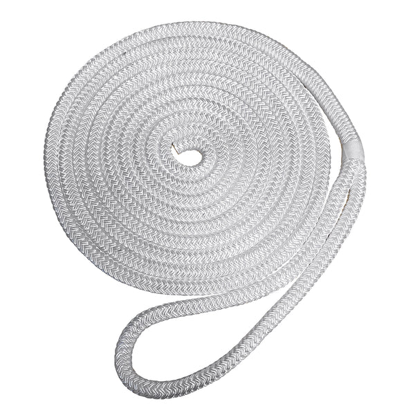 "Robline Premium Nylon Double Braid Dock Line - 3/4"" x 45 - White [7181954]"