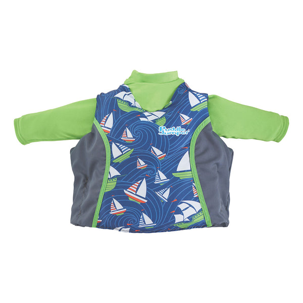 Puddle Jumper Kids 2-in-1 Life Jacket  Rash Guard - Sailboards - 33-55lbs [2000033185]