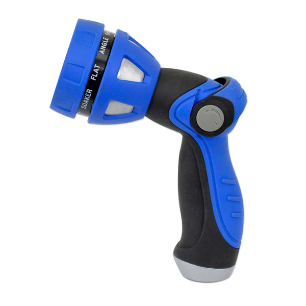 HoseCoil Thumb Lever Nozzle w/Metal Body  Nine Pattern Adjustable Spray Head [WN815]