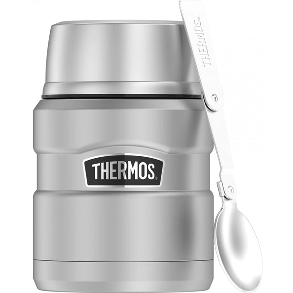 Thermos 16oz Stainless Steel Food Jar w/Folding Spoon - 9 Hours Hot/14 Hours Cold [SK3000MSTRI4]