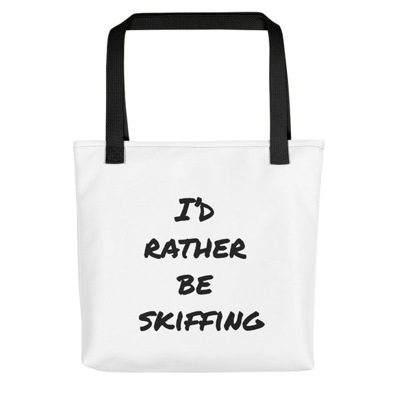 All-Over Print Tote | I'D RATHER BE SKIFFING