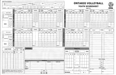 SS-001 3/5 Volleyball Score Sheets
