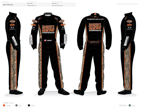 Kyle Moody, Custom Oakley Fire Suit
