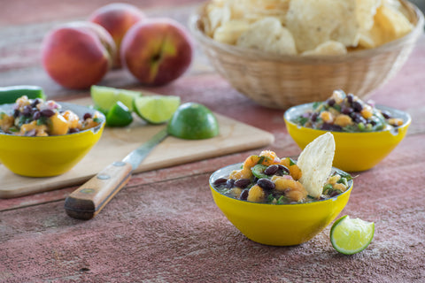 Peach Black Bean Salsa