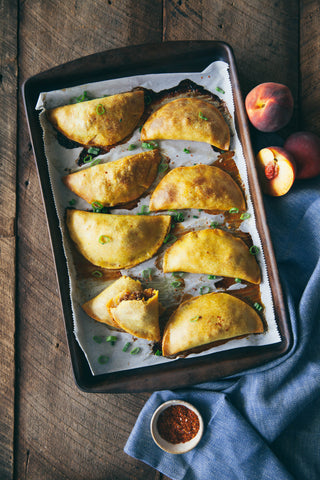 Sweet and Spicy Peach and Sausage Empanadas