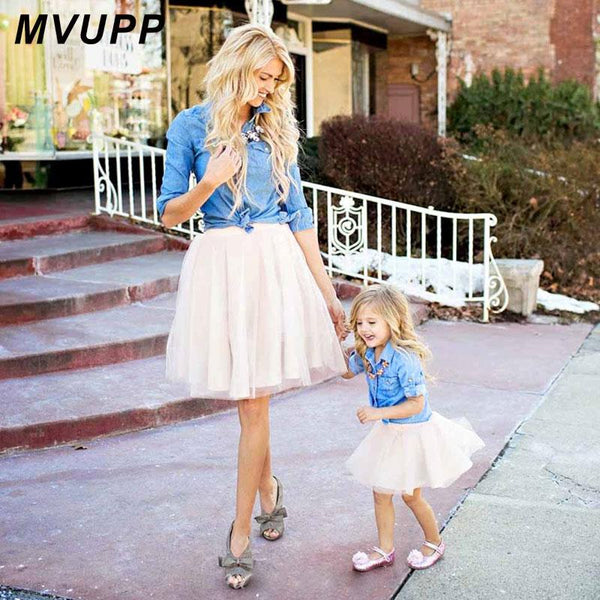 denim lace Maxi Dress - Mommy Fashion Life