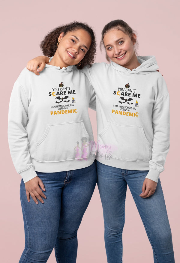 Home Schooling Shirt, Home School Scary Hooded Sweatshirt - Mommy Fashion Life