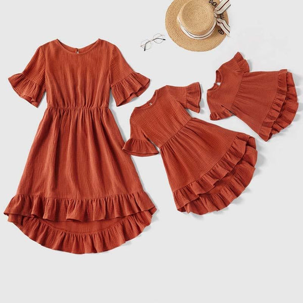 Mommy and Me Ruffle Dress - Mommy Fashion Life
