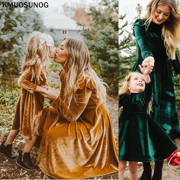 Mommy and Me Velvet Dress - Mommy Fashion Life