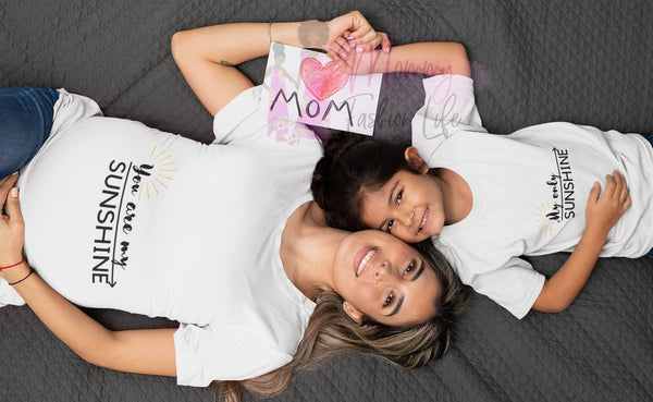 Mother daughter matching shirts, you are my sunshine my only sunshine shirt - Mommy Fashion Life
