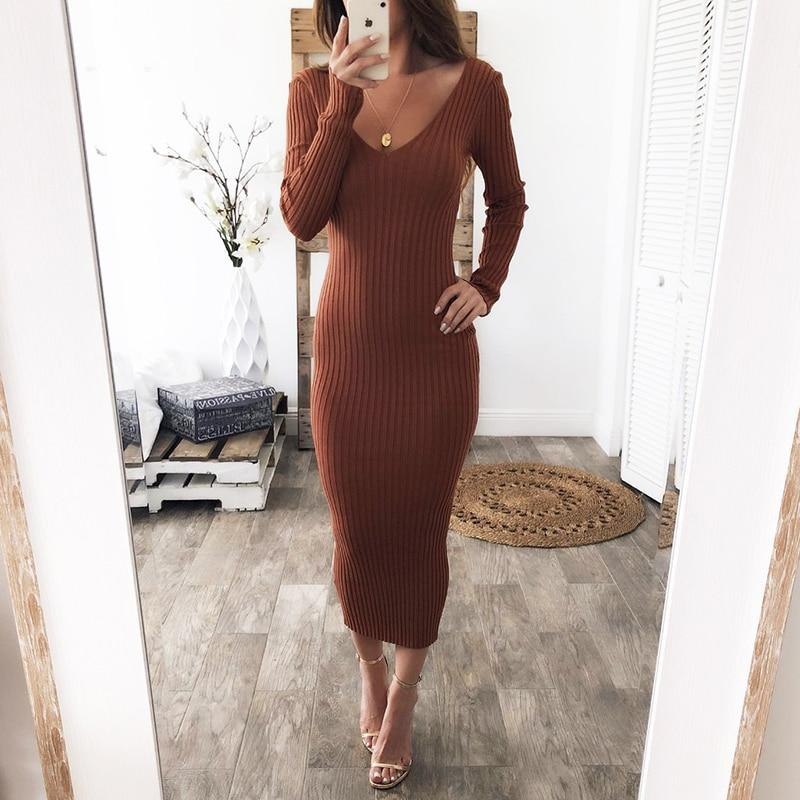 Sexy Knitted Dress - Mommy Fashion Life