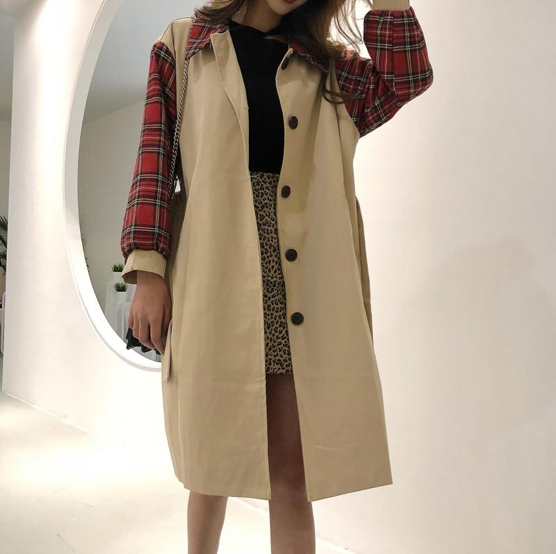 Wild Plaid Trench Coat - Mommy Fashion Life