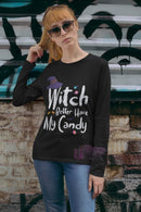 Witch My Candy Unisex Long Sleeve Tee - Mommy Fashion Life