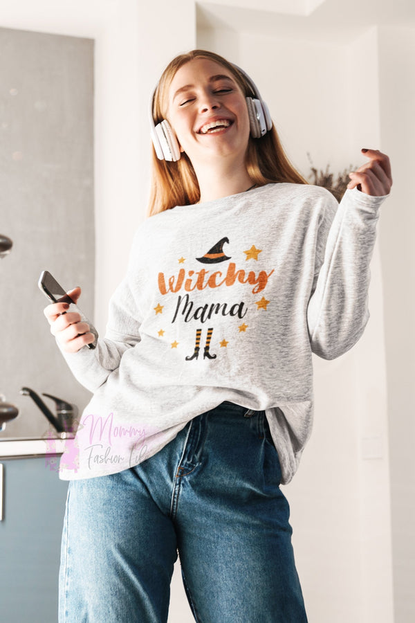 Witchy Mama Shirt, Mom Halloween Sweatshirt - Mommy Fashion Life