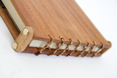The end bindings are created by plaiting three shades of lokta twine together which are then threaded through pre drilled holes - thus ensuring the book ... & Wooden Books - how theyu0027re made u2013 Anglesey Paper Company