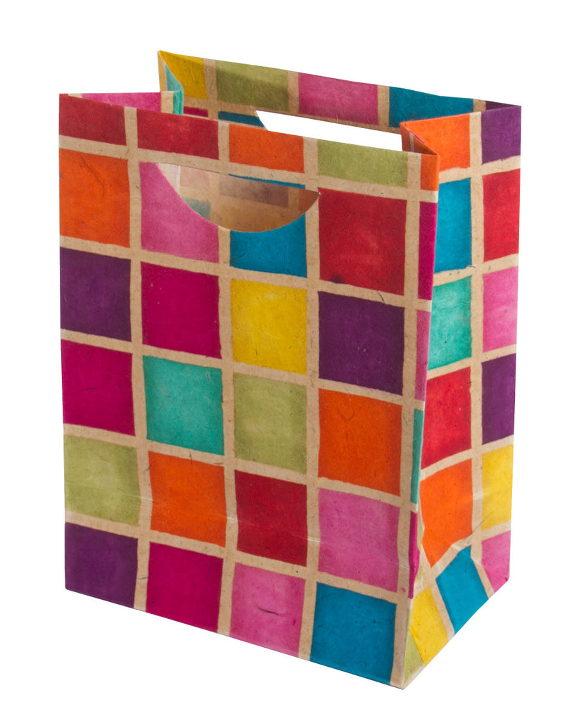 Large Gift Bag - Batik Squares - Gift Bag - Anglesey Paper Company