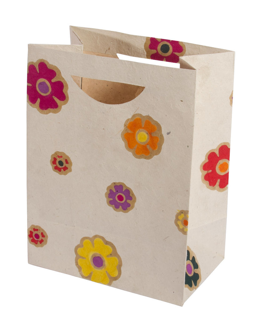 Large Gift Bag - Batik Flowers - Gift Bag - Anglesey Paper Company
