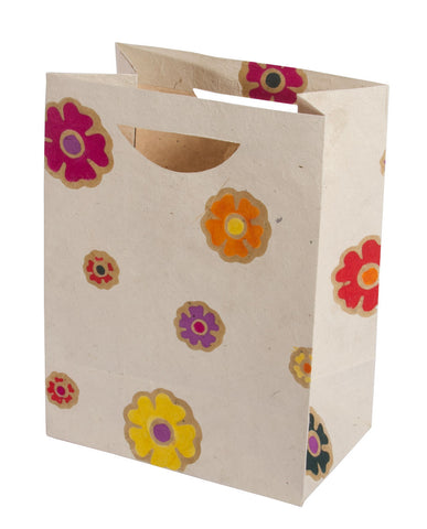 Large Gift Bag - Batik Flowers