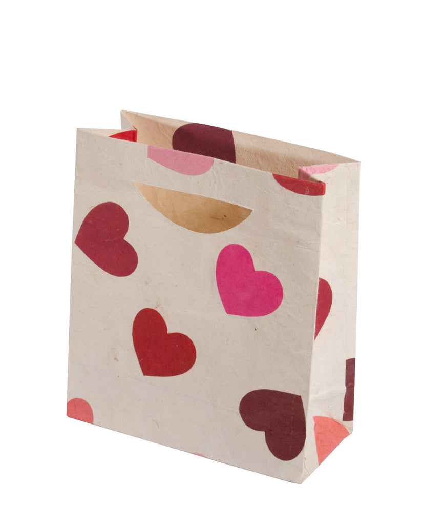 Medium Gift Bag - Pink Hearts - Gift Bag - Anglesey Paper Company