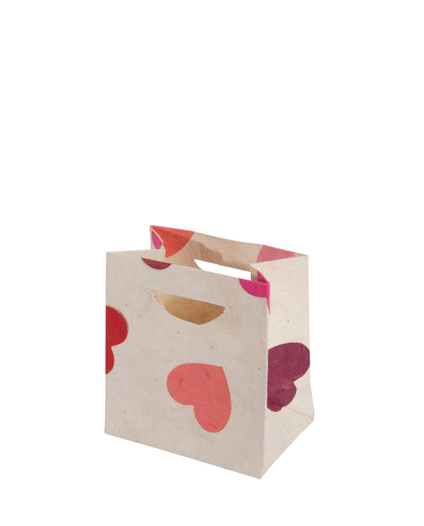 Small Gift Bag - Pink Hearts - Gift Bag - Anglesey Paper Company