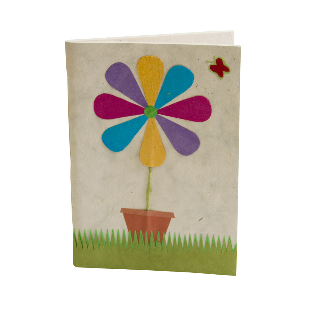 A4 Scrapbook with Lokta Paper - Fun Flower - Soft Cover - Scrapbook - Anglesey Paper Company