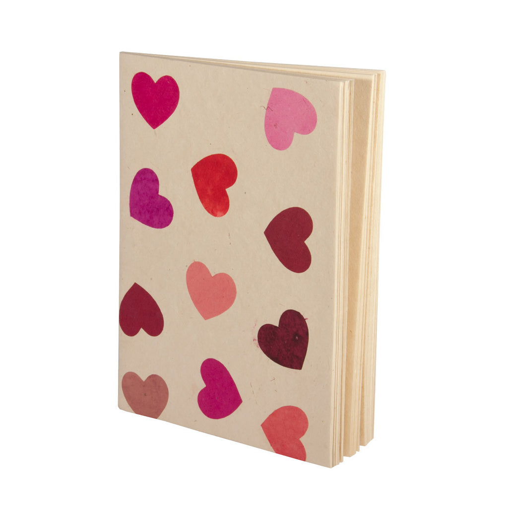 A4 Scrapbook Soft Cover - Pink Hearts - Scrapbook - Anglesey Paper Company