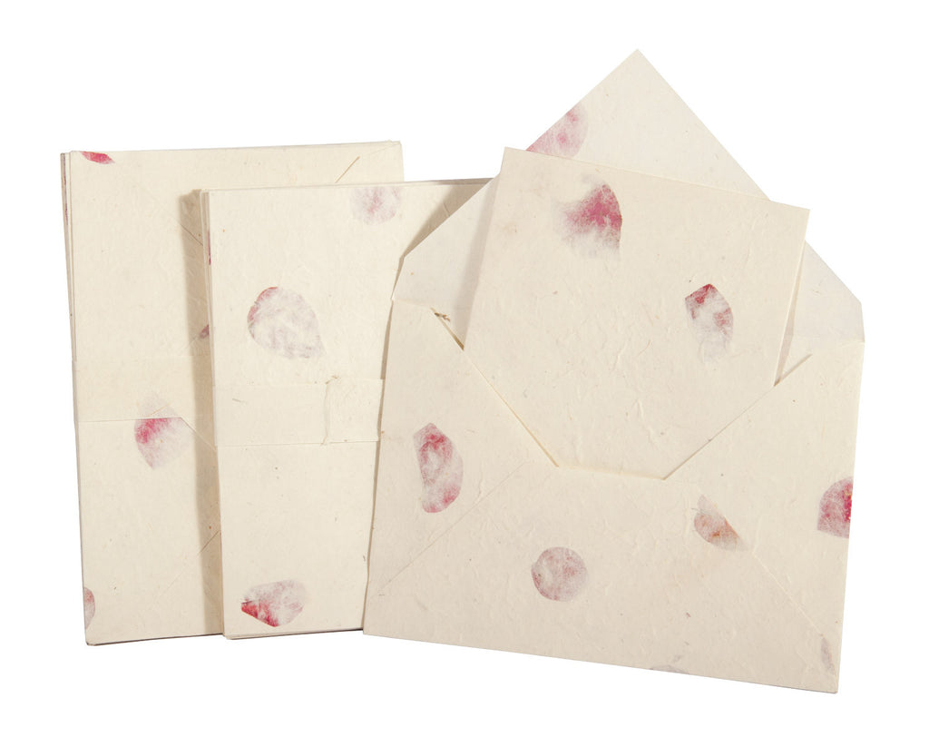 Handmade A5 Lokta Notelet and Envelopes - Pack of 10 sets - Stationery Set - Anglesey Paper Company  - 1