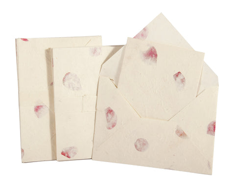 Handmade A5 Lokta Notelet and Envelopes - Pack of 10 sets